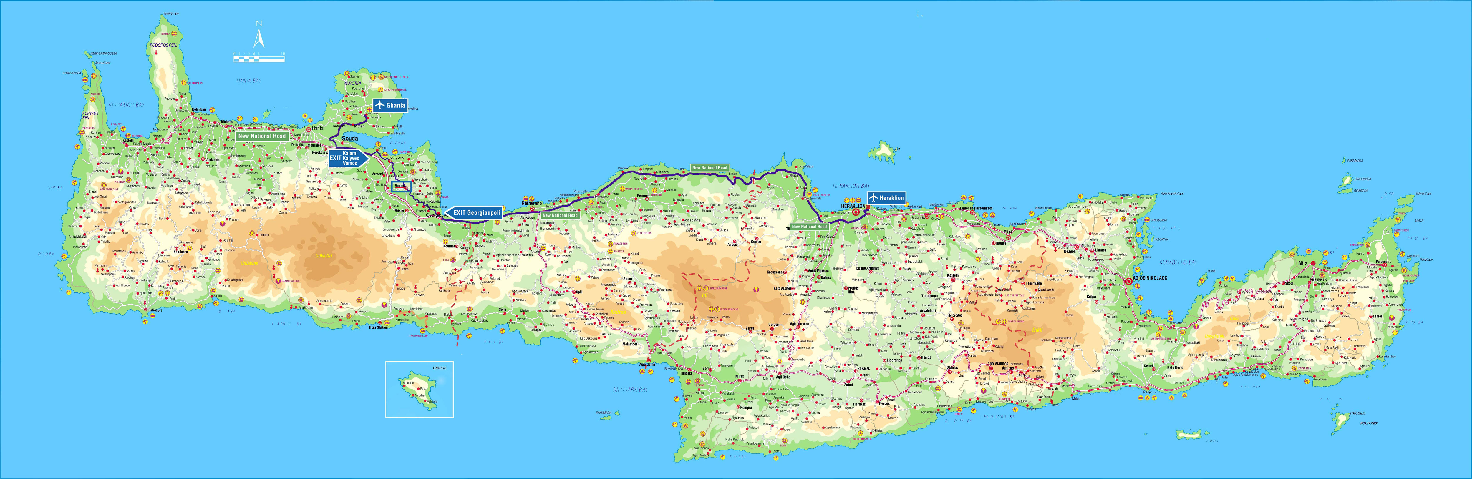 Maps of Vamos, Apokoronas and Crete